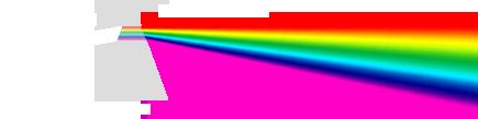 منشور: نور سفید و طیف مرئی