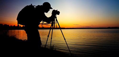 photographer tripod silhouette