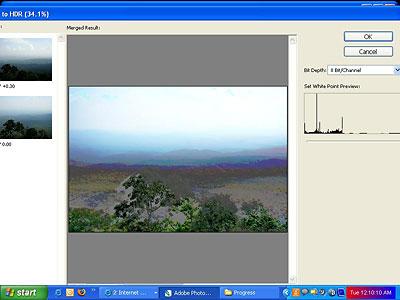 Photoshop HDR camera response curve problems