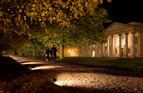 path at Downing College at Cambridge University in England