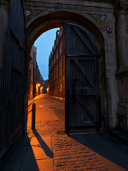 Queen's Gate within Trinity College at Cambridge University in England