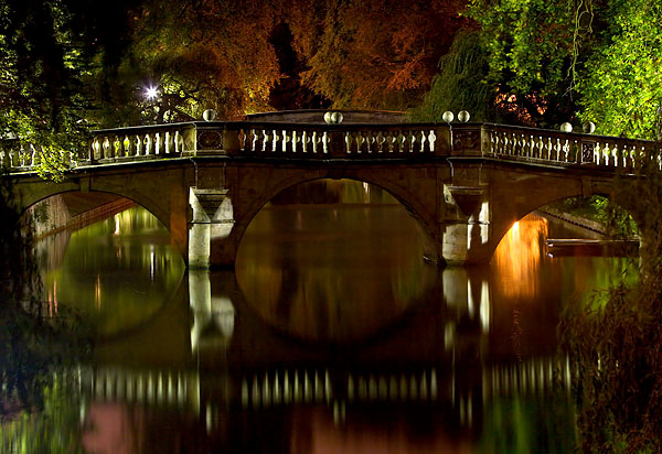 Clare Bridge within Clare College at Cambridge University in England