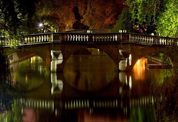 Clare Bridge within Clare College at Cambridge University in England