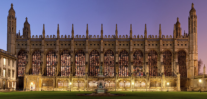 King's College Chapel at Cambridge University in England
