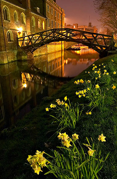 Mathematical Bridge within Queens' College at Cambridge University in England
