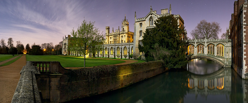 New Court's exterior within St. John's College at Cambridge University in England