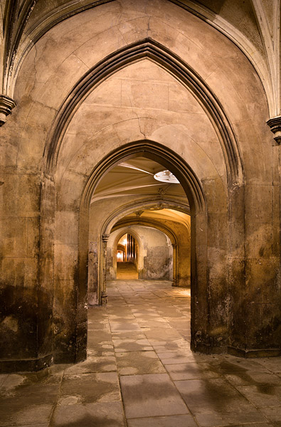 New Court archways within St. John's College at Cambridge University in England