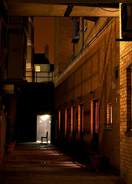 alley near Trinity Street in Cambridge, England