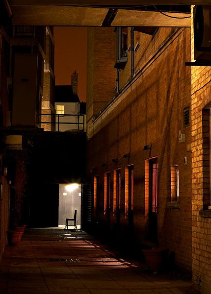 alley near Trinity Street in Cambridge, England