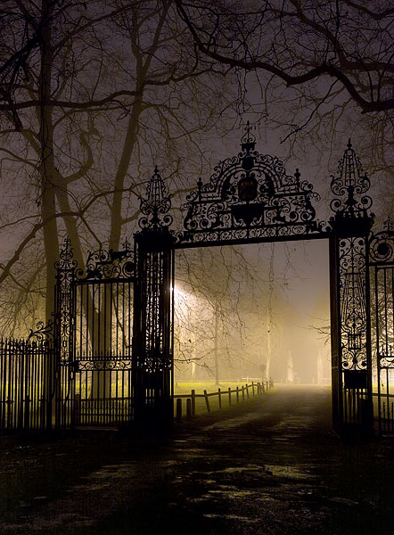 gate leading from Trinity College to the Backs at Cambridge University in England