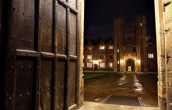 Second Court doorway within St. John's College at Cambridge University in England