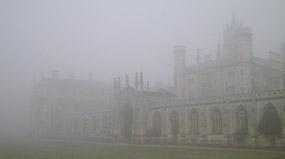 Колледж Св. Иоанна — новый корт в тумане