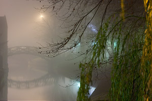 mathematical bridge in the fog