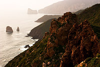 Sardinia Cliffs in Haze