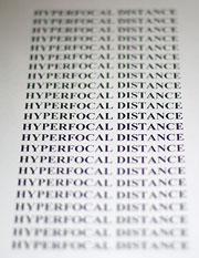 Image Focused at Hyperfocal Distance