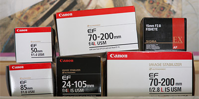 Canon camera lens boxes