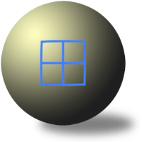 narrow angle spherical projection