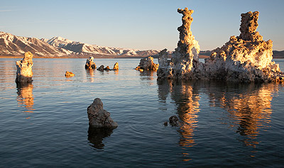 rule of thirds applied to an abstract subject - tufa towers at mono lake