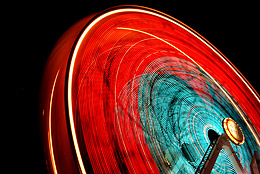 conveying motion with shutter speed - ferris wheel example