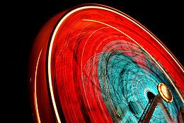 передача движения с помошью выдержки на примере колеса-обозрения