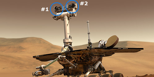 3d stereo camera on mars rover