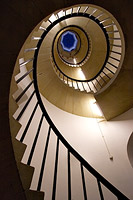 spiral staircase in New Court, St John's College, Cambridge